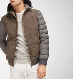 CONTRAST DOUBLE-SIDED JACKET - MEN - Massimo Dutti Mens Belts Fashion, Mens Outdoor Jackets, American Casual, Types Of Jackets, Stylish Mens Outfits, Versace Men, Hoodie Jacket, Jacket Men, Menswear