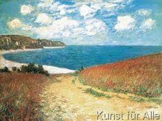 Claude Monet - Meadow Road to Pourville, 1882