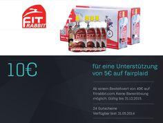 fitRABBIT, der erste leistungssteigernde BIO Sport Drink mit der konzentrierten Kraft der Roten Bete im praktischen 85 ml Beutel.  Für nur 5€ Projektbeitrag bekommst du einen 10€ Gutschein.  http://www.fairplaid.org/Gutscheine/Gutschein-Detail/vid/84 #fairplaid #mehrsportfueralle