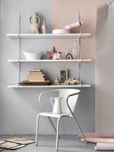 Minimalistisk hylla Ekby IKEA Livet hemma