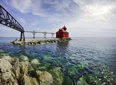 Wisconsin: Images of the Badger State - The Atlantic The Sturgeon Bay Canal North Pierhead Light, a lighthouse standing at the southern entrance of the Sturgeon Bay Ship Canal in Door County #Matt Anderson Photography / Getty
