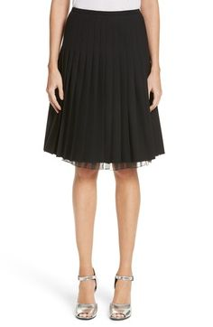 MARC JACOBS PLEATED STRETCH WOOL SKIRT. #marcjacobs #cloth #