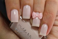Pink bowknot  by BornPrettyNails - Nail Art Gallery nailartgallery.nailsmag.com - pedicurespaproducts.com