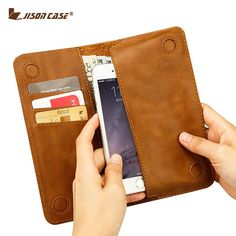 """Jisoncase Case for iPhone 6 6s 4.7"""" Wallet Pouch Fundas for iPhone 6 plus 6s plus 5.5"""" PU Leather with Card Slot Luxury Case"""