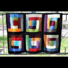 Log cabin knit