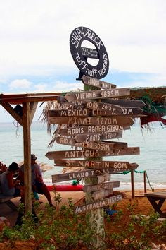 St. Kitts beach bar sign destinations around the world