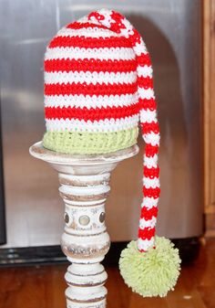 Christmas Long Tail Hat via Etsy