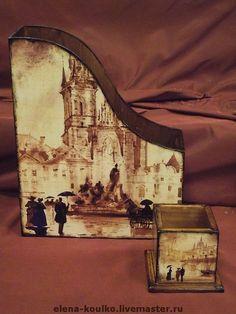 """Журнальницы ручной работы. Ярмарка Мастеров - ручная работа Комплект """"Очарование акварели-2"""". Handmade."""