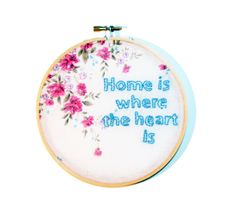 home is where the heart is embroidery by lemondear on Etsy, $25.00
