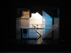 The talented, Melbourne based Richard Roberts designs the set for 'Next to… Design Set, Set Design Theatre, Stage Design, Modern Lighting Design, Modern Design, Architecture Exam, Stage Beauty, Next To Normal, Stage Set