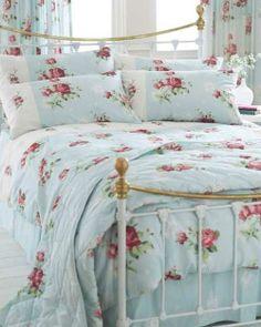 pastels shabby rose cottage bedroom