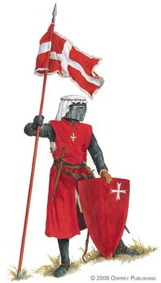 Knight Hospitaller.  The habit or costume of the Hospitallers was a genuine uniform, but was more suited to the life of a monk. The standard black cappae were relatively tight fitting monastic robes which brothers-in-arms had to wear over their armour. It was clearly not suited to the violent movement of close combat, yet it was not until 1248 that Pope Innocent IV allowed the brothers-in-arms to 'wear wide surcoats, bearing upon the breast the sign of the Cross'.