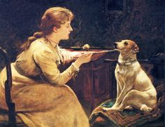 Unknown Title - Charles Burton Barber (English, 1845-1894)