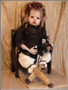 Stefanie Vega, doll, taxidermy... now that is one creepy doll love  the animal legs ... creepy