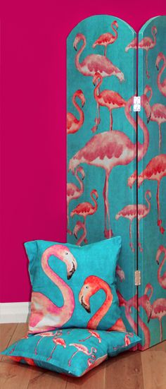 We cannot argue that Flamingos have been, and still are, a huge trend. So combine this design, with a brand new product category and you have a fantastic and practical accessory for your home. We introduce our brand new 'Flamingo Beach' single sided screens. With our favourite long legged bird on the front, and on a smaller scale on the back, we bring you a statement for your home that is so versatile we dare you not to like it! Flamboyant, unusual and a touch kitsch these...