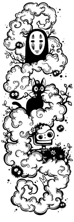 Designing a ghibli tattoo. First draft, going through revisions, but wanted to know what people here thought. - Designing a ghibli tattoo. First draft, going through revisions, but wanted to know what people here - Tatuaje Studio Ghibli, Studio Ghibli Art, Ghibli Tattoo, Tattoo Design Drawings, Cute Drawings, Tattoo Designs, Ghibli Movies, Anime Tattoos, Miyazaki