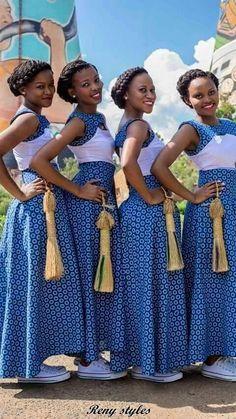 Best Shweshwe Fashion Dresses ( 1 ) - Reny styles