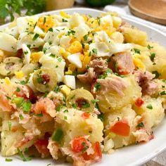 Columbian Recipes, Salad Recipes, Healthy Recipes, Meat Salad, Casserole Recipes, Seafood Recipes, Food Videos, Delish, Food And Drink
