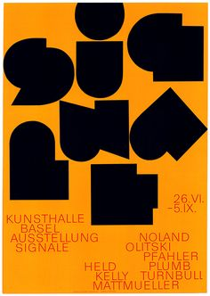 Exhibition Poster Kunsthalle Basel Signale 1965 by Peter Von Arx . Collage Poster, Typo Poster, Typography Poster Design, Design Posters, Layout Inspiration, Graphic Design Inspiration, Design Ideas, Letter Stencils, Exhibition Poster