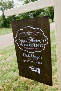 entrance sign - Lyndsay this would be good at your house for reception