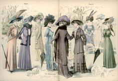 Walking suits, 1908 the Netherlands, De Gracieuse