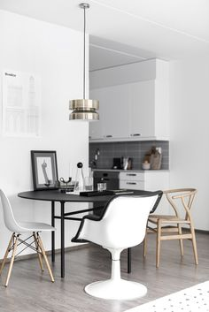 A newly built home styled with black accents - via Coco Lapine Design blog