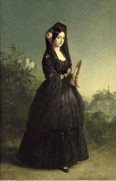mantilla luisa fernanda_dona_marie_l - 1846 Marie-Louise-Ferdinande de Bourbon, Infante d'Espagne, duchesse