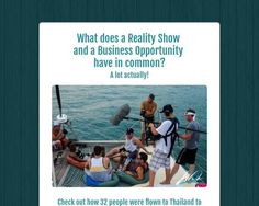 What does aReality Showanda Business Opportunityhave in common? - Tackk