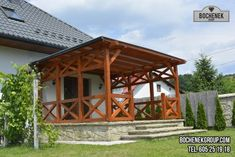 Gazebo, Pergola, Exterior, Outdoor Structures, Cabin, House Styles, Home Decor, Projects, Kiosk