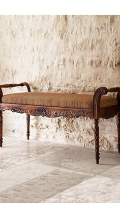 Antique Benches Indoor - Adding seats to your own backyard or garden can allow it to be much more pleasurable. Farmhouse Furniture, Sofa Furniture, Furniture Design, Antique Bench, How To Antique Wood, Living Room Sofa Design, Living Room Decor, Traditional Benches, Rustic Bench
