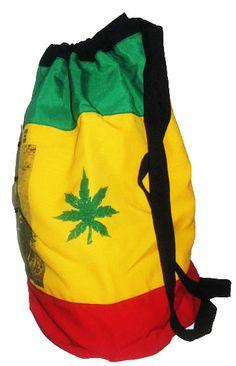 JAMAICA BOB MARLEY PETER TOSH FABRIC DRAW STRAP RASTA BAG POUCH PURSE