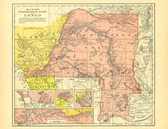 Old Map of the Congo, printable digital map, this is a good source for vintage illustrations and digital images #congo #oldmaps #africa #vintageimages #vintageillustrations #antiquemaps #antiquemapofthecongo