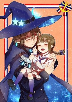 Tags: Anime, MaJiang, Wadanohara and the Great Blue Sea, Lord Meikai, Wadanohara, Father And Daughter, Witch