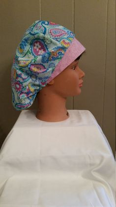 Hey, I found this really awesome Etsy listing at https://www.etsy.com/listing/273886362/paisley-bouffant-style-scrub-cap