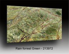 Rain Forrest Green yes please! Green Granite Countertops, Brown Granite, Granite Colors, Granite Slab, Kitchen Countertops, Green Marble Bathroom, Granite Bathroom, Stone Slab, Marble Stones