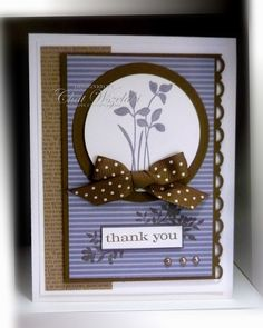 by Chat Wszelaki, Me, My Stamps and I: Just Believe Thank U Cards, Handmade Thank You Cards, Greeting Cards Handmade, Pretty Cards, Cute Cards, Purple Cards, Homemade Greeting Cards, Just Believe, Sympathy Cards