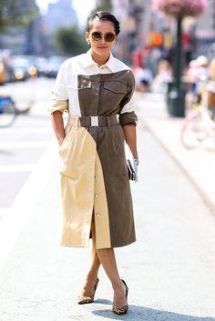 Лето в городе, часть 3: платье-рубашка | Мода | VOGUE