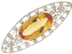 An elegant alternative to add to your wardrobe, an Edwardian brooch. Edwardian Jewelry, Antique Jewelry, Imperial Topaz, Topaz Jewelry, Art Nouveau Jewelry, Diamond Brooch, Vintage Diamond, Round Cut Diamond, Jewelry Stores