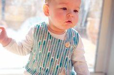 Cross My Heart Vest - digital PDF sewing pattern - boy girl unisex baby - 0-3m to 5 years