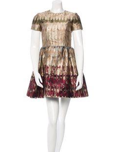 Valentino Printed Metallic Dress w/ Tags