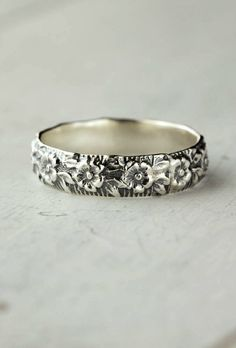 Sterling Silver Flower Band