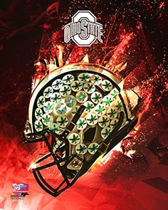 "Ohio State Buckeyes Football Helmet Photo (Size: 20"" x 24"")"