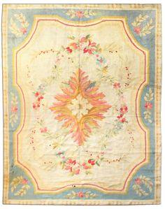 Savonnerie carpet BB2381 | antique-carpet-european-american-french-aubusson-savonnerie-ivory ...