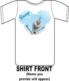 Disney Frozen Mickey Olaf Custom Shirt by DesignsByBrinley on Etsy