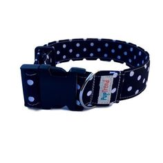 Black  White Polka Dot Dog Collar The Hottest Handcrafted Dog & Cat Collars / Cheap Online Price