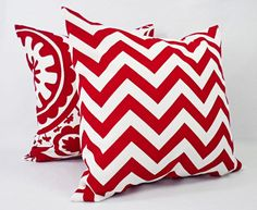 One Red Pillow Sham Red Decorative Pillow by CastawayCoveDecor