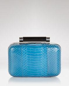 DIANE von FURSTENBERG Clutch - Tonda Watersnake - Handbags - Bloomingdale's