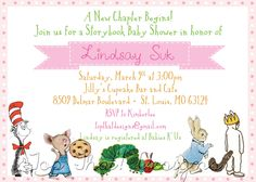 Children's Book Themed Baby Shower Invitation- Collection Featured on HWTM Blog. $12.00, via Etsy.