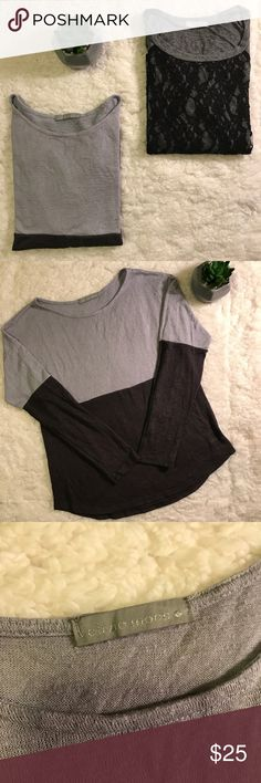Olivia Moon Long Sleeved Top Bundle The top with the lace is a medium and it's black and grey. The lilac and very dark Greyish lilac is a small. They both look like the exact same size so I thought to bundle them together. Both long sleeved and in great condition. The brand is Olivia Moon at Nordstrom. Great deal! Olivia Moon Tops Tees - Long Sleeve
