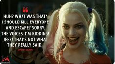 Discover and share the most famous quotes from the movie Suicide Squad. Joker Quotes, Movie Quotes, Harly Quinn Quotes, Harely Quinn, Margot Robbie Harley, Daddys Lil Monster, Dc Movies, Trailer, Joker And Harley Quinn